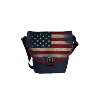 US Flag. Land of the Free, Home of the Brave Commuter Bag
