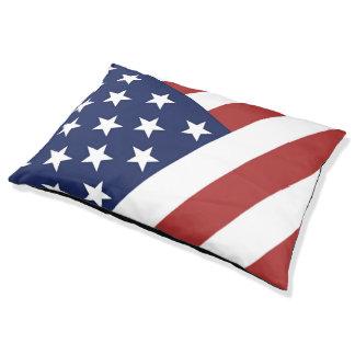 US Flag Large Dog Bed