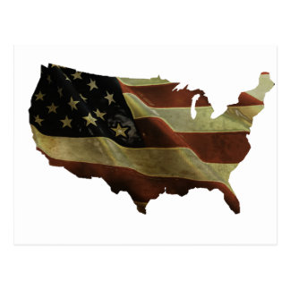 US flag/map gifts, add your background color Postcard