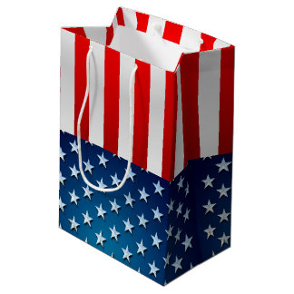 US Flag Medium Gift Bag