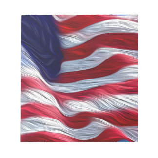 US Flag oil paint effect. Notepad
