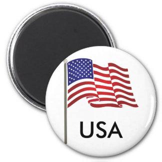 US Flag on Pole Magnet