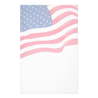 US Flag Patriotic Stationery