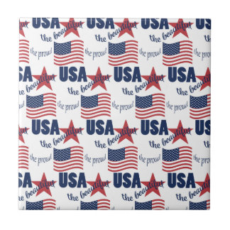 US Flag Pattern Ceramic Tiles