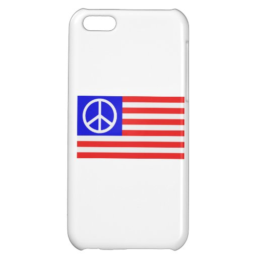 US flag peace Cover For iPhone 5C