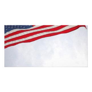 US Flag Photo Card Template