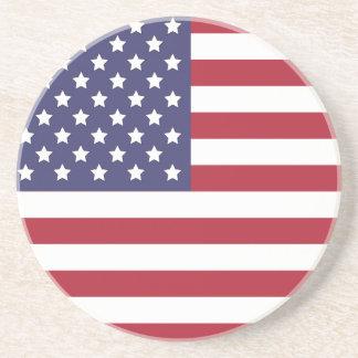 US Flag Quarter Coaster