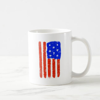 US Flag Raw Grit Coffee Mug