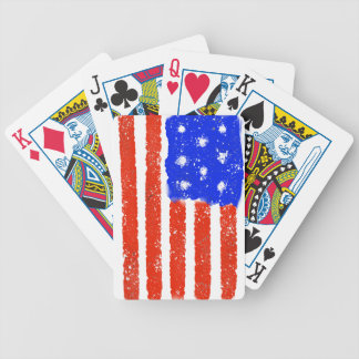 US Flag Raw Grit Poker Deck