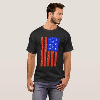 US Flag Raw Grit T-Shirt