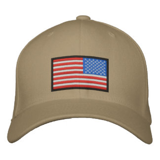US Flag reversed Embroidered Hat