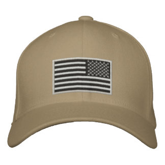 US Flag reversed Embroidered Hats