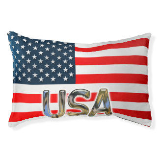 US Flag Small Dog Bed