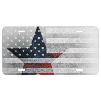 US Flag Star License Plate