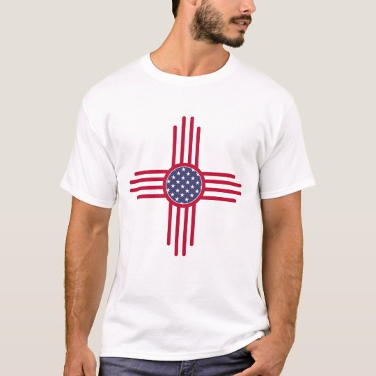 US Flag - The Zia Sun Symbol T-Shirt