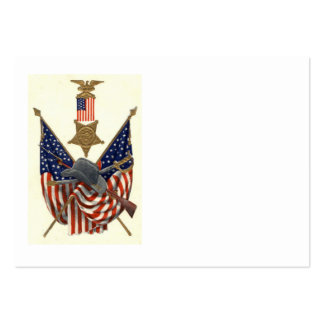 US Flag Union Civil War Medal Eagle Business Card Template