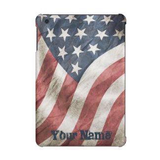 US Flag Vintage Retro Old Glory Personalized iPad Mini Cover