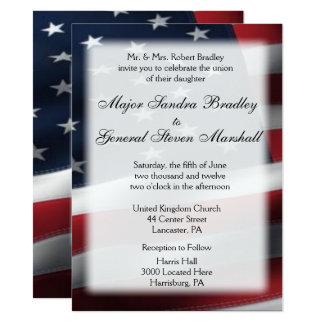 "US Flag Wedding & Reception Invitations 5.5"" x 7.5"