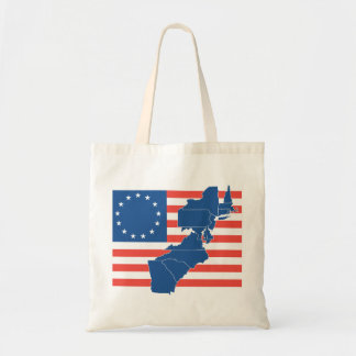 US Flag with 13 states Tote Bag