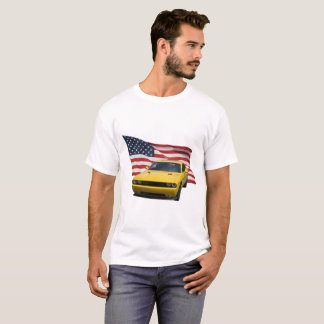 US Flag With Challenger T-Shirt