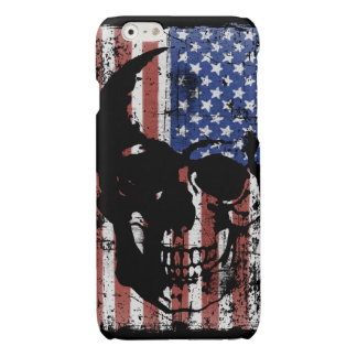US FLAG WITH SKULL DISTRESSED PRINT PHONE CASE