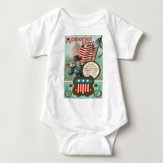 US Flag Wreath Civil War Union Soldier Congress Dr Baby Bodysuit
