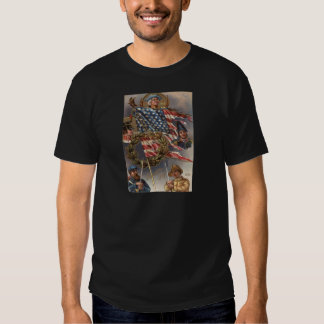 US Flag Wreath Military Memorial Day T Shirts