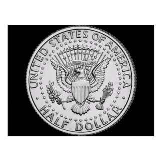 US Great Seal Half Dollar Postcard