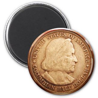 US Half Dollar 1892 Columbian Expo 2 Inch Round Magnet
