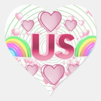 Us Heart Sticker