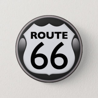US Historic Route 66 2 Inch Round Button