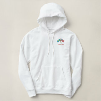 US-Kaz Dual Flags Embroidered Hoodie