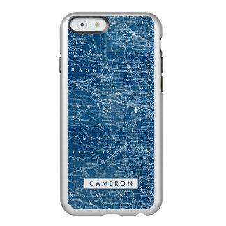 US Map Blueprint Incipio Feather® Shine iPhone 6 Case