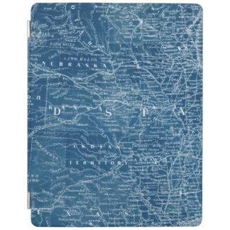 US Map Blueprint iPad Cover