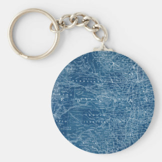 US Map Blueprint Keychain