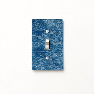 US Map Blueprint Light Switch Cover