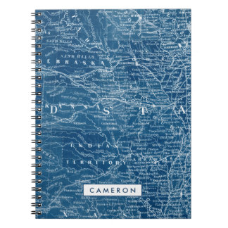 US Map Blueprint Notebooks
