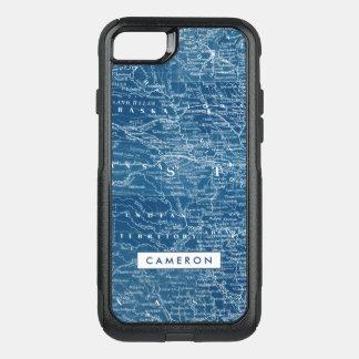 US Map Blueprint OtterBox Commuter iPhone 8/7 Case