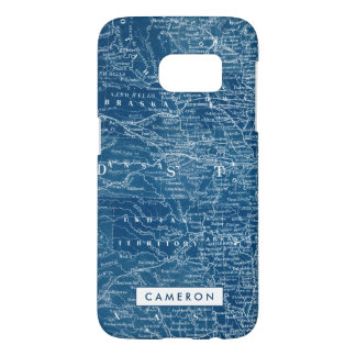 US Map Blueprint Samsung Galaxy S7 Case