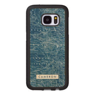 US Map Blueprint Wood Samsung Galaxy S7 Case