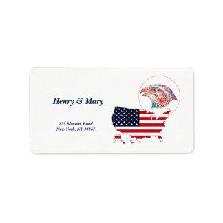 US Map & Eagle Label