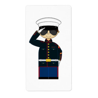 US Marine Corp NCO Saluting Sticker