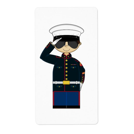 US Marine Corp NCO Saluting Sticker