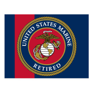 US Marine Corps - Retired Blue Postcard