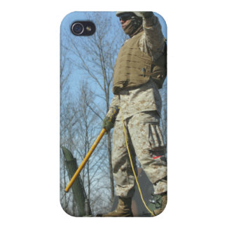 US Marine Corps Sergeant gives the thumbs up Covers For iPhone 4