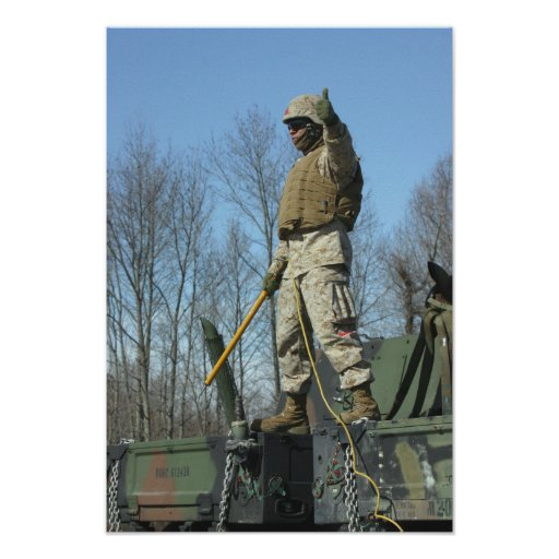 US Marine Corps Sergeant gives the thumbs up Posters