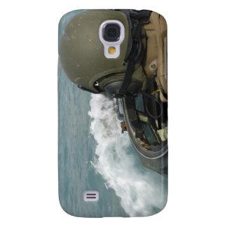 US Marine driving an amphibious assault vehicle