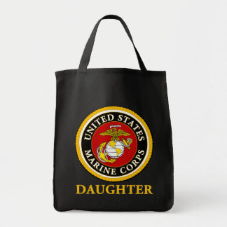 US Marine Official Seal - Daughter Grocery Tote Bag