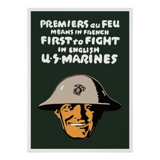 US Marines -- First To Fight Poster