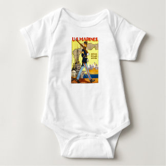US Marines Land and Sea Baby Bodysuit